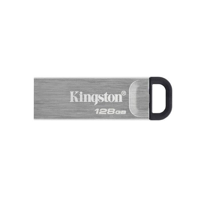 KINGSTON Kyson 128 GB DataTraveler USB Flash Drive - Con elegante custodia in metallo senza cappuccio