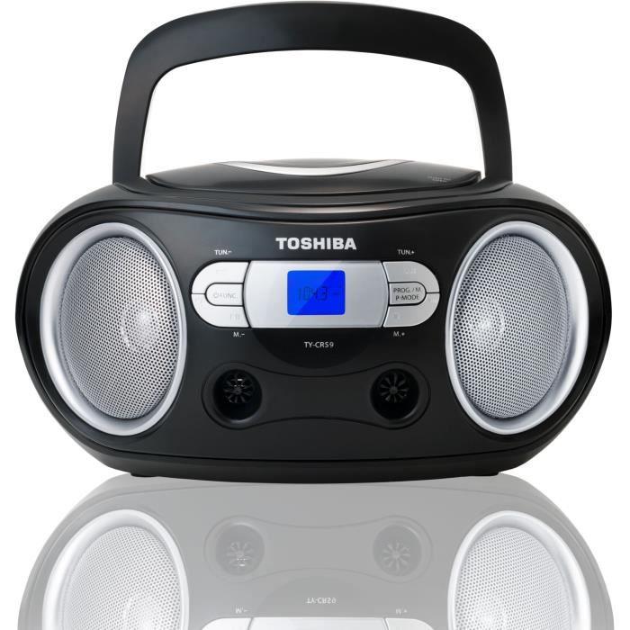 BoomBox portatile per CD TOSHIBA TY-CRS9 - nero