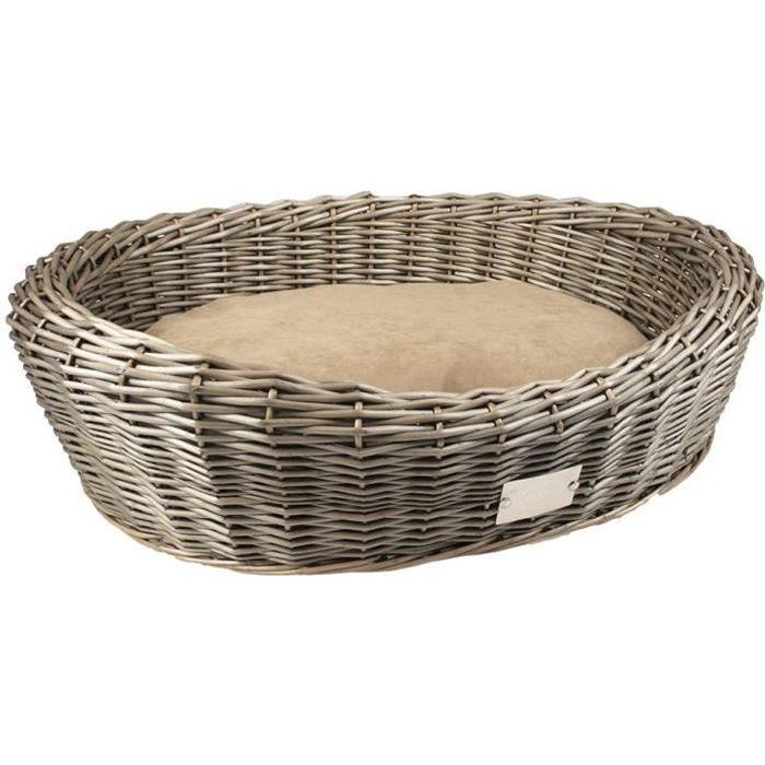 EUROPET BERNINA Provence panier ovale en osier avec coussin Duvo+ - Marron - Pour chien
