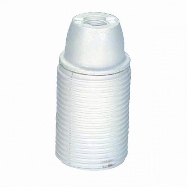 Besole000 Accessorio per illuminazione Portalampada filettato in plastica bianca