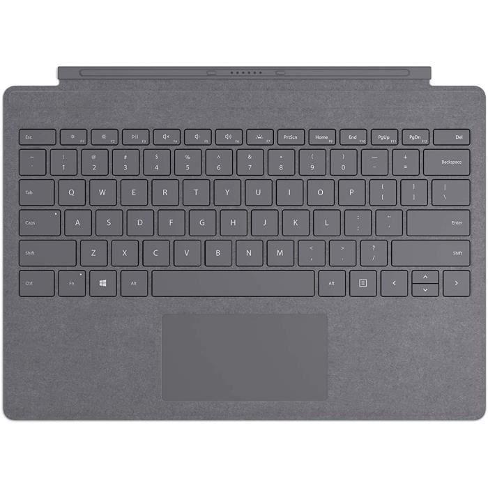 Tastiera con cover con tasti Signature Microsoft per Surface Pro - antracite