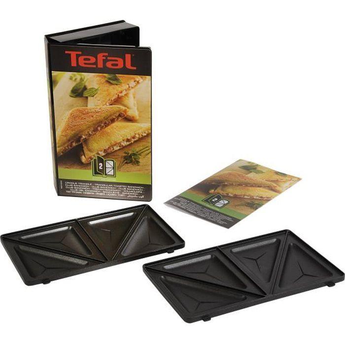 Accessori TEFAL XA800212 Set di 2 piatti sandwich triangolari Snack Collection