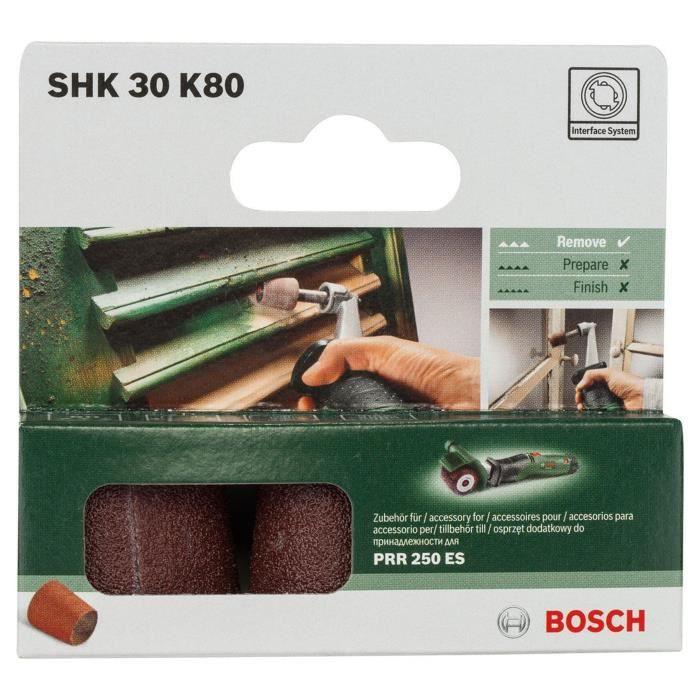 BOSCH Abrasif conique PRR 30mm G80 x3 pieces