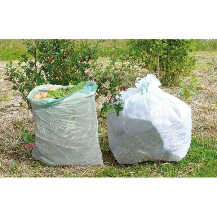 VILMORIN 10 Sacs déchets verts et organiques - 110 L