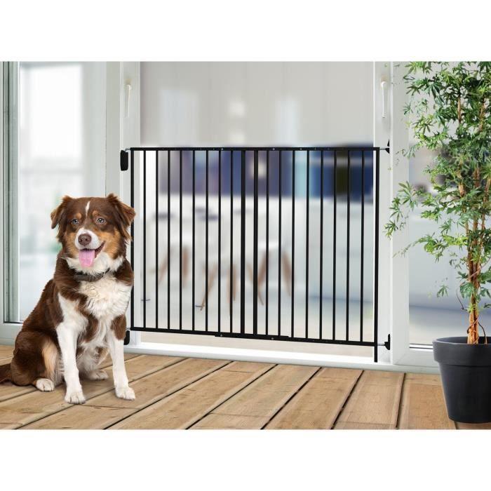 VADIGRAN Barriere d'extérieur Tom - H 105 cm - Noir - Pour chiens de grande taille