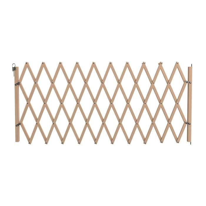 VADIGRAN Barriere en bois accordéon - 60-230 cm - Brun - Pour chiens et chats