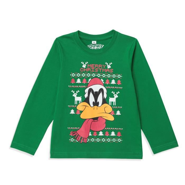 T-Shirt LOONEY TUNES Daffy Duck Green Boy