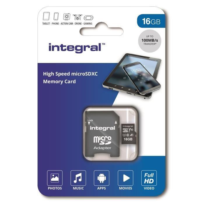 INTEGRALE di memoria Micro SDHC 16G