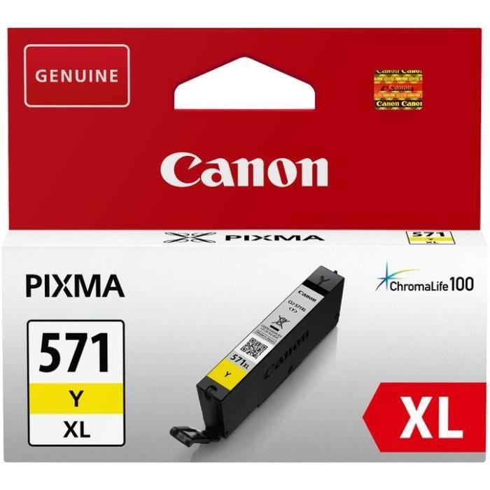 CANON Cartouche d'encre CLI-571 XL grande capacité Jaune (CLI571XL)