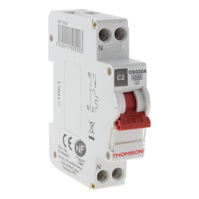Interruttore THOMSON PH N a vite - 2A NC - Potere di interruzione 4.5KA