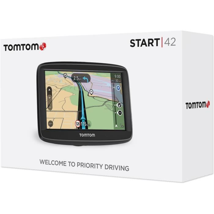 TomTom Start 42 - GPS auto 4,3 pouces, Cartographie Europe 49 pays
