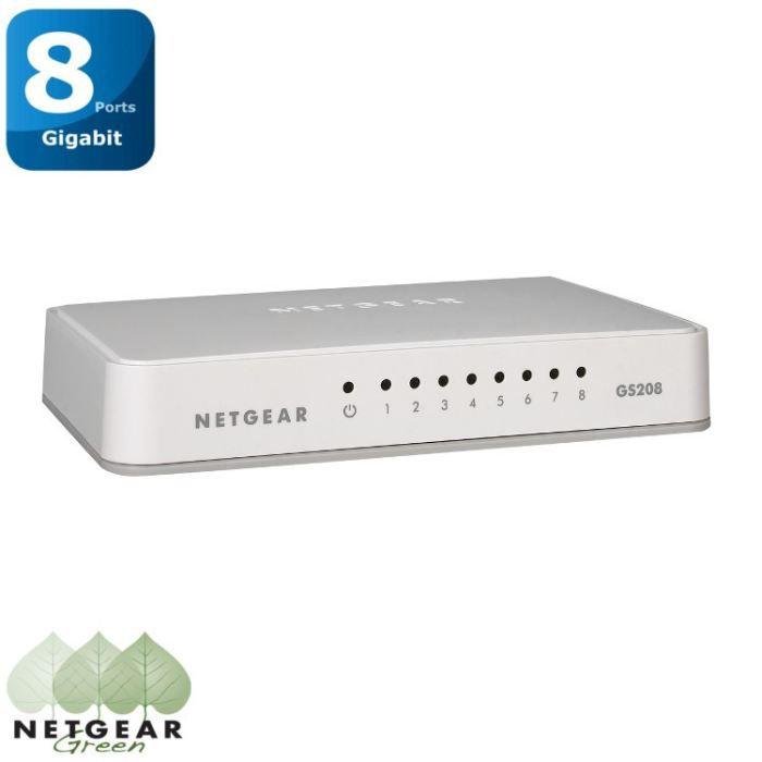 Switch NETGEAR 8 porte Gigabit GS208