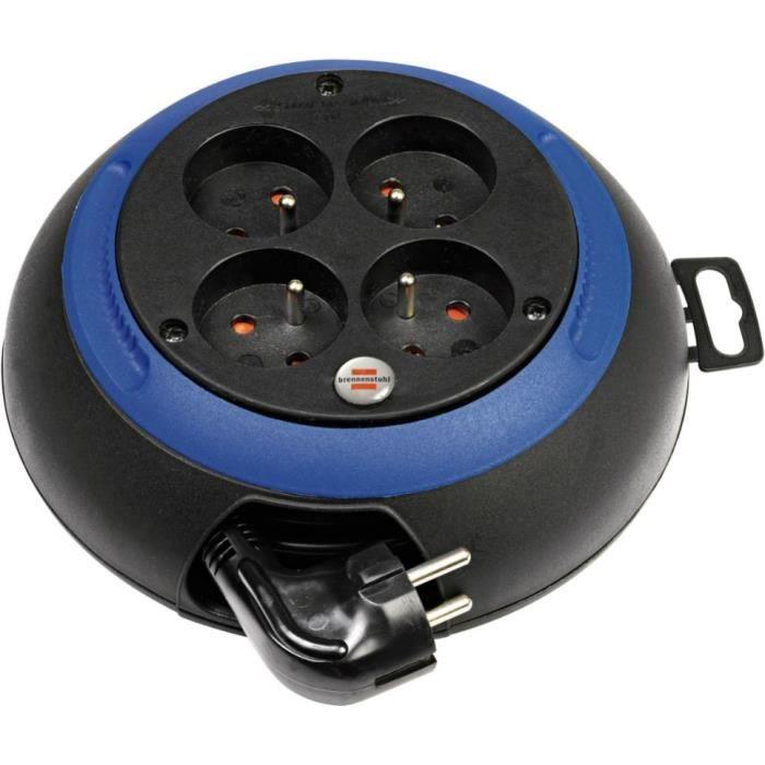 Brennenstuhl Enrouleur de câble domestique Design-Box 3m - Fabrication Française
