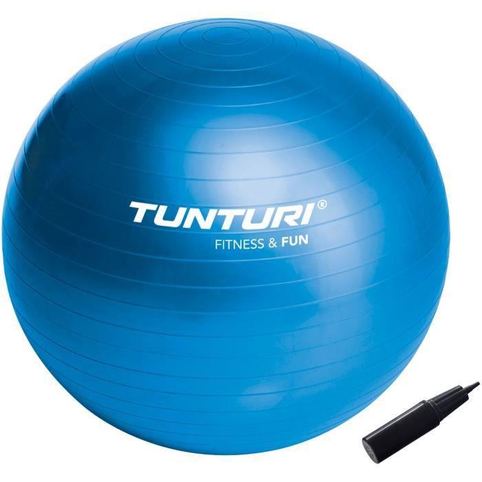 TUNTURI Gym ball ballon de gym 90cm bleu