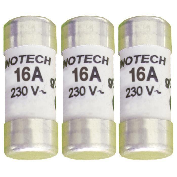 ZENITEHC 3 fusibili ceramici 10,3x25,8mm 16A senza spia