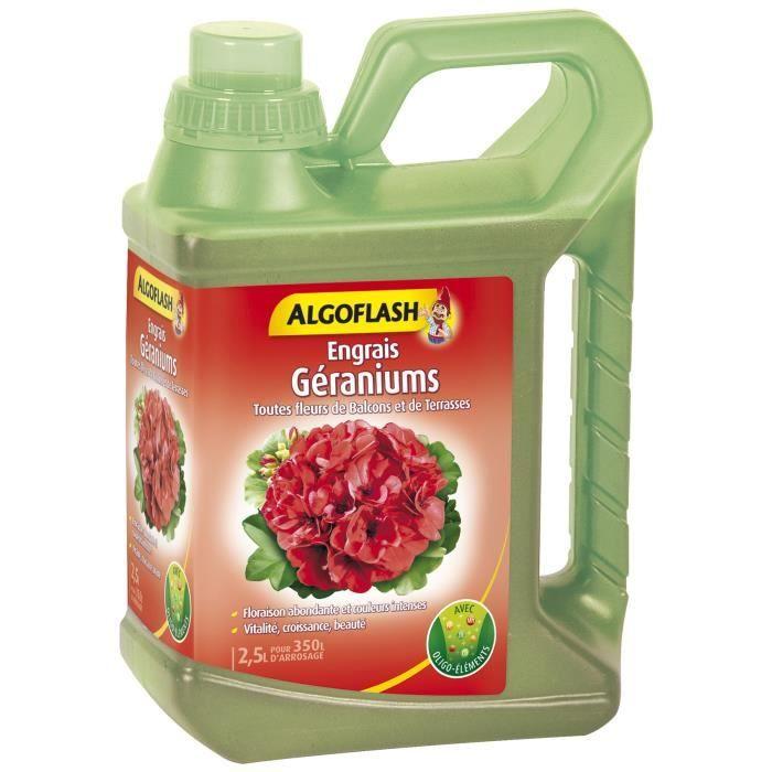ALGOFLASH Fertilizzante al geranio e tutti i fiori da balcone - 2,5L