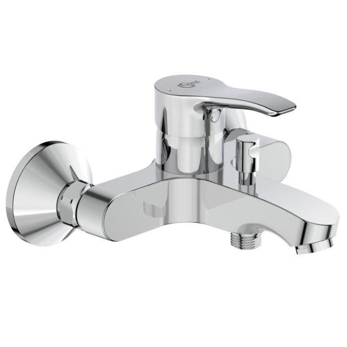 Miscelatore vasca-doccia a parete con maniglia in metallo - OGLIO - Cromo - Ideal Standard