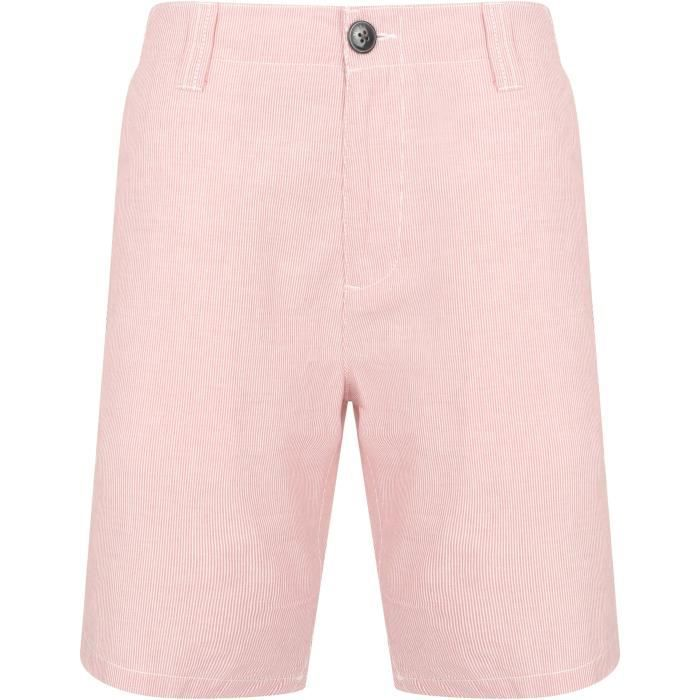 TOKYO LAUNDRY Short Chino a Rayures Rouge Homme
