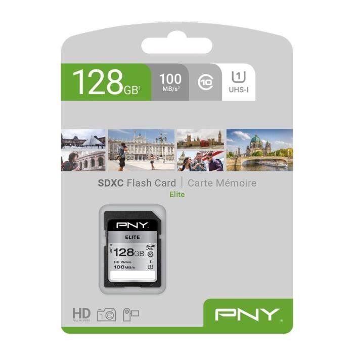 Scheda di memoria SD PNY da 128 GB Elite C10 U1