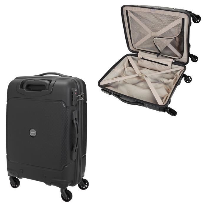 DELSEY Valise Cabine Low Cost Rigide Polypropylene 4 Roues 55cm SEJOUR Anthracite