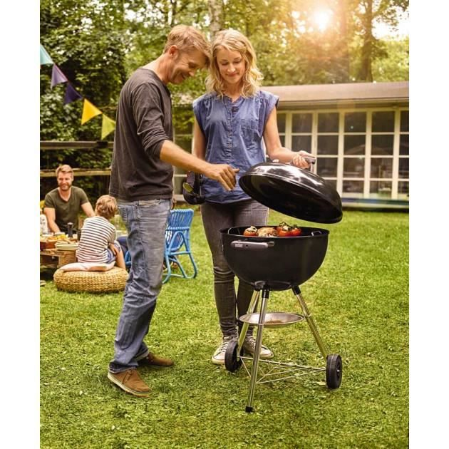 WEBER Barbecue a charbon Classic Kettle 47 cm thermometre Charcoal Grill  - Noir