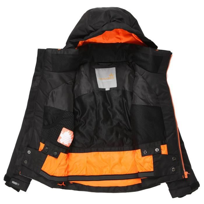 WANABEE Veste de ski CYRO 200 JKT - Enfant - Noir