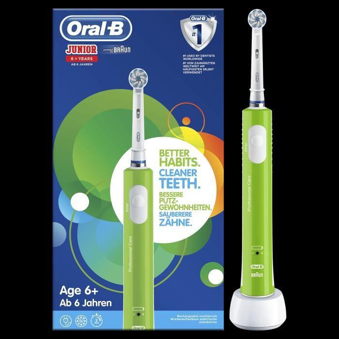 Spazzolino elettrico ricaricabile Oral-B Junior 6+ - Verde