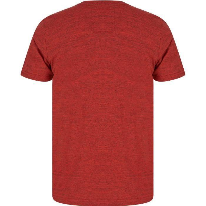 TOKYO LAUNDRY T-Shirt Rouge/Noir Homme