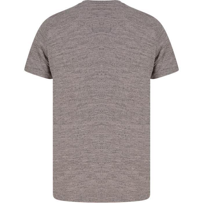 TOKYO LAUNDRY T-Shirt Noir/Gris Homme