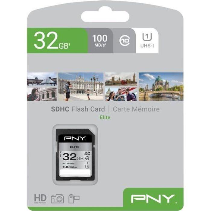 Scheda di memoria SD PNY da 32 GB Elite C10 U1