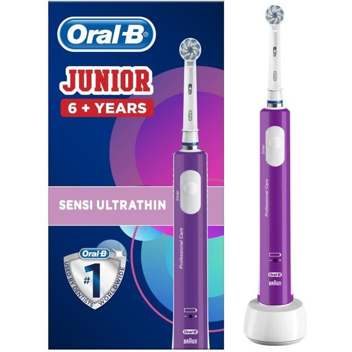 Spazzolino elettrico ricaricabile Junior 6+ Oral-B - Viola