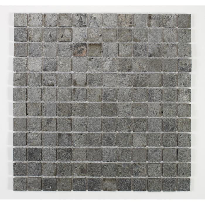 U-TILE Mosaico in pietra naturale 100 x 50 cm - Piastrella 2,5 x 2,5 cm - Bronzo oceano