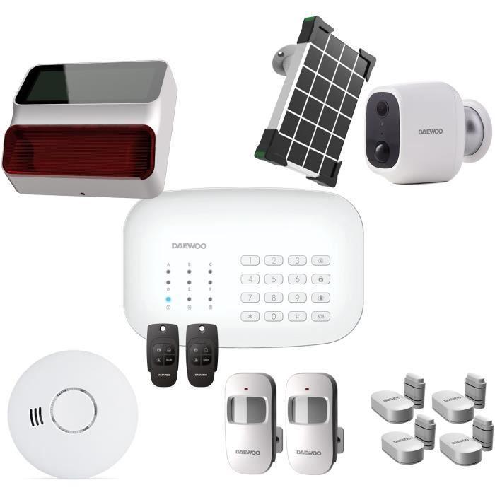 Pacchetto allarme DAEWOO Wifi / GSM - Modello SA620 fornito con 10 accessori, 1 fotocamera e 1 sirena