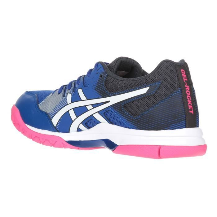 ASICS Chaussures de Tennis Gel-Rocket 9 - Femme - Bleu et rose