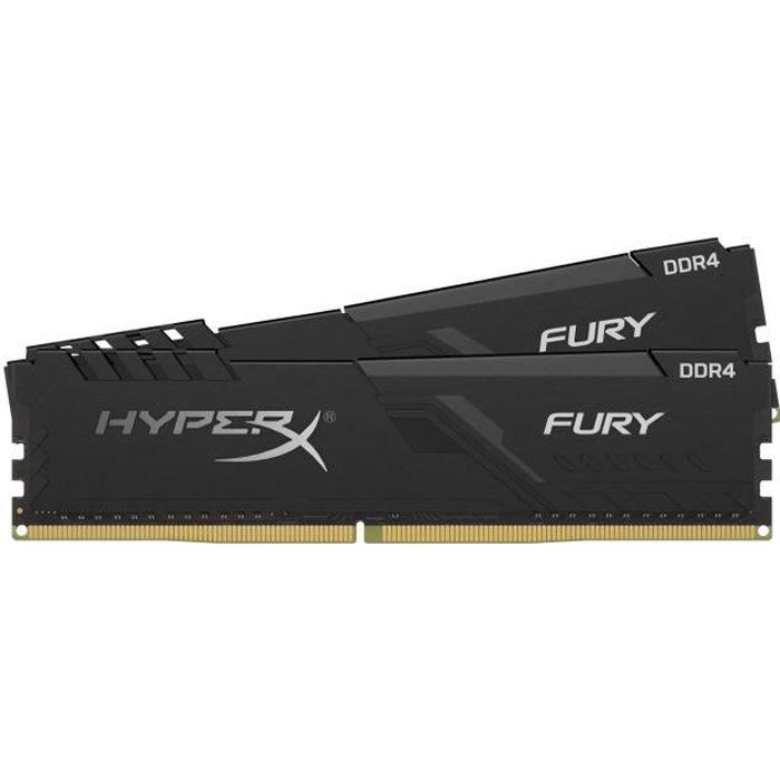 HYPERX FURY - RAM PC Mémoire - 16Go (2x8Go) - 3200 MHz - DDR4 - CAS 16 (HX432C16FB3K2 / 16)