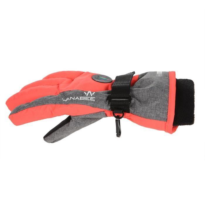 WANABEE Gants de ski Gardy 200 GT - Enfant fille - Corail