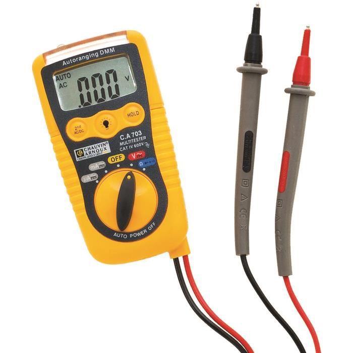 Besole000 Multimetro digitale tascabile - Rilevamento della tensione senza contatto - Da 200 mV a 600 V.