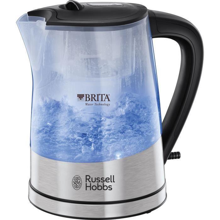 Russell Hobbs 22850-70 Bollitore con filtro in vetro Clarity 1.5L, cartuccia del filtro dell'acqua Brita Maxtra inclusa