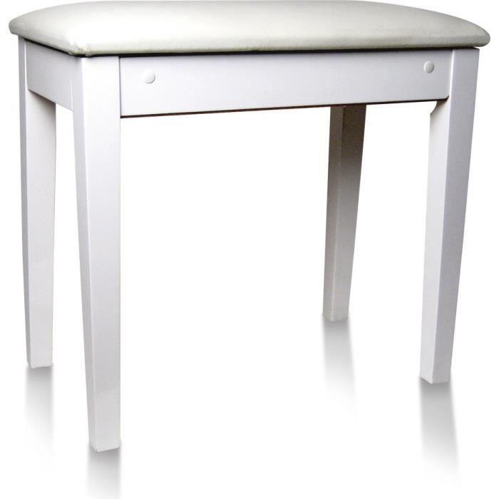 DELSON 104-3WH Banquette piano avec coffre a partitions - Blanc