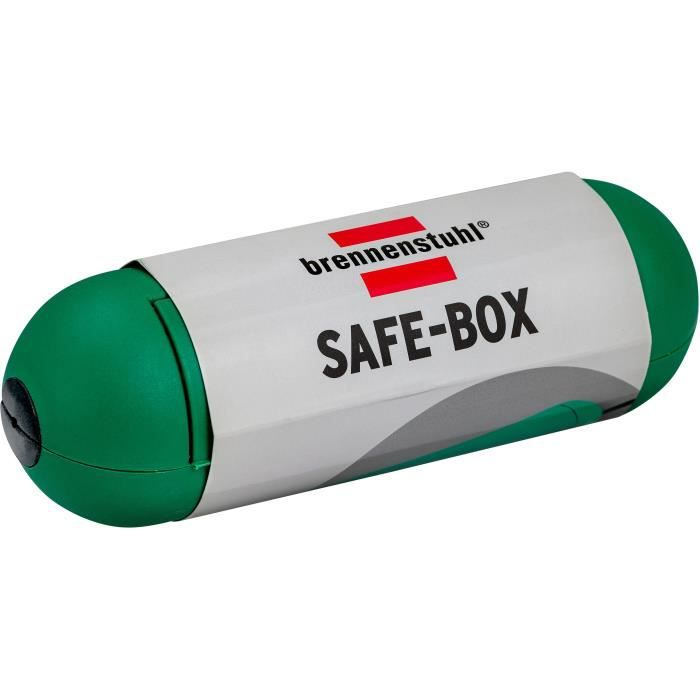 Brennenstuhl Safe-Box / Boîtier de protection pour rallonge électrique, (protection pour câble, utilisation en intérieur) vert