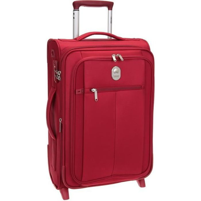 DELSEY Valise Cabine Low Cost Extensible Souple 2 Roues 55cm PIN UP5 Rouge