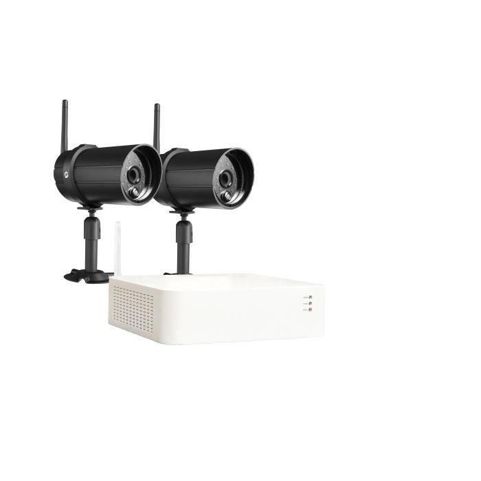 CHACON Kit registratore di videosorveglianza wireless IP + 2 telecamere (1 TB incluso)