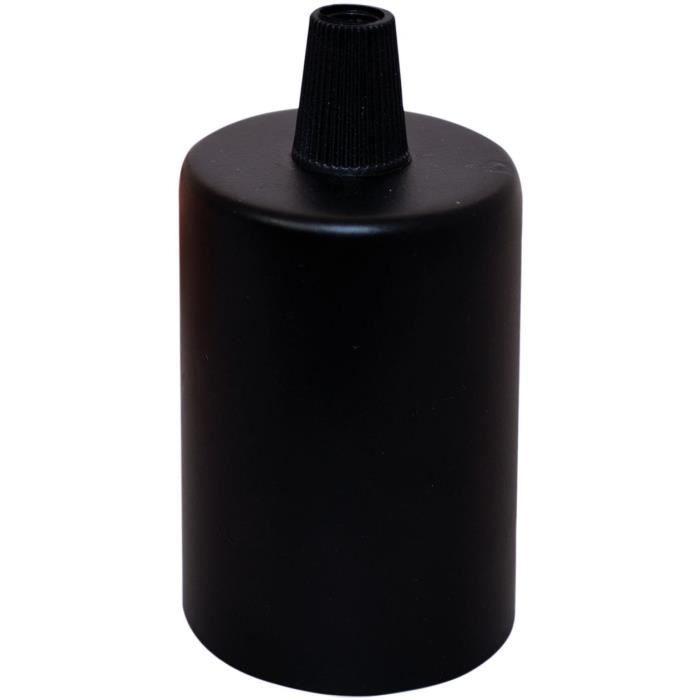 TIBELEC Portalampada E27 copri portalampada in metallo nero
