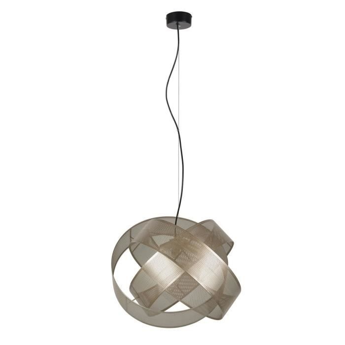 COREP Lampada a sospensione in metallo Ring - Ø 52 cm - H 41 cm - 40 W - Champagne