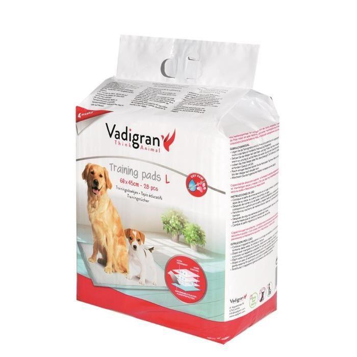 VADIGRAN Tapis éducateurs - 60 x 45 cm - 28 pieces - Pour chiens