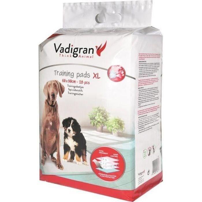 VADIGRAN Tapis éducateurs - 60 x 90 cm - 28 pieces - Pour chiens