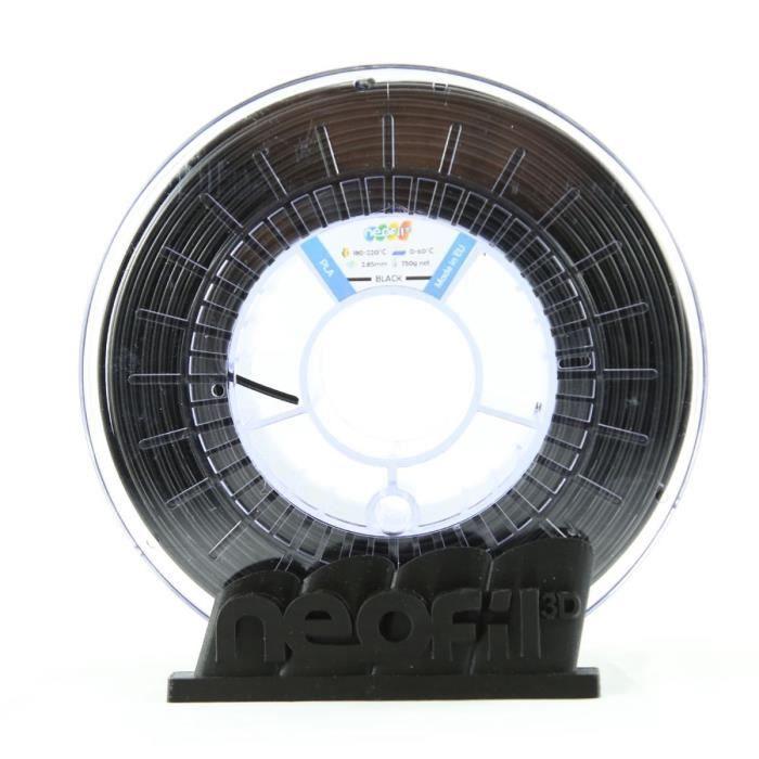 Cartuccia a filamento PLA Neofil3D - 1,75 mm - Nero - 750 g