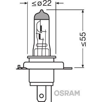 OSRAM Lampada da notte NIGHT BREAKER SILVER H4