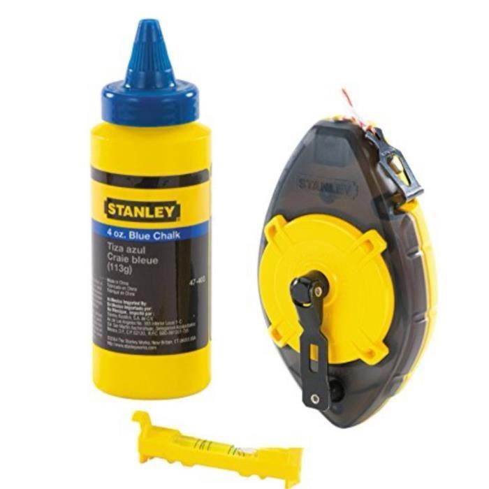 STANLEY Kit 3 pieces cordeau traceur Powerwinder