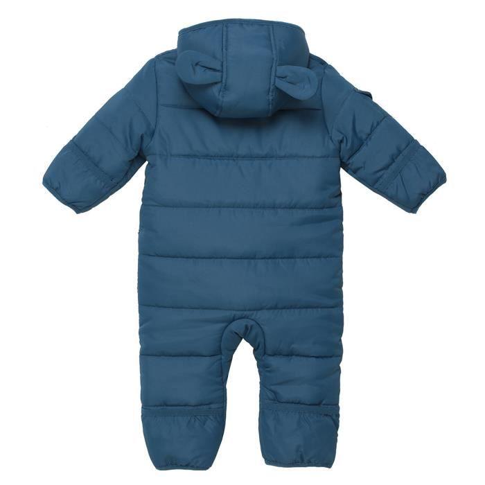 WANABEE Combinaison doudoune Vercors - Bébé - Bleu Pétrole